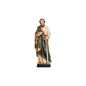 Hand painted wooden statues: Saint Paul statue in coloured wood