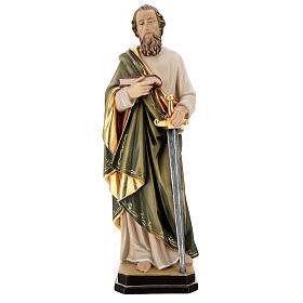 Saint Paul statue in coloured wood s1