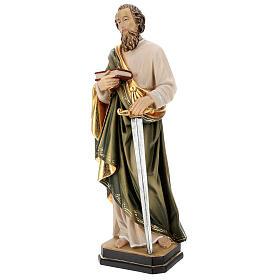 Saint Paul statue in coloured wood s3