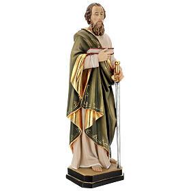 Saint Paul statue in coloured wood s4