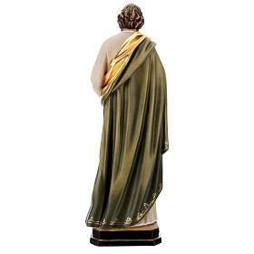 Saint Paul statue in coloured wood s5