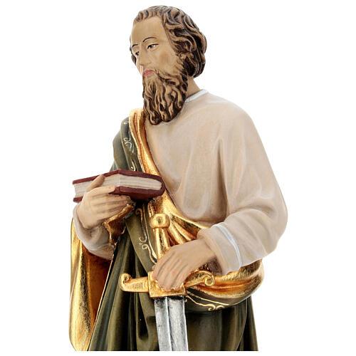 Saint Paul statue in coloured wood 2