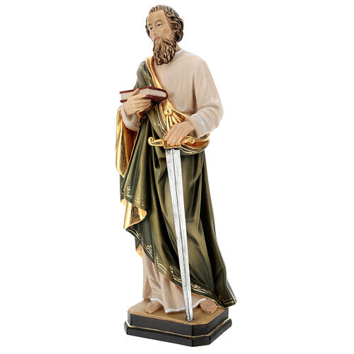 Saint Paul statue in coloured wood 3