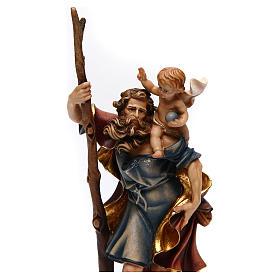 Statua San Cristoforo legno colorato s2