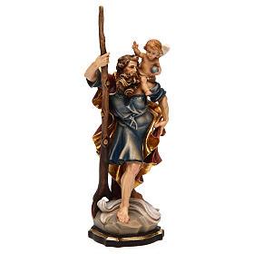 Statua San Cristoforo legno colorato s4