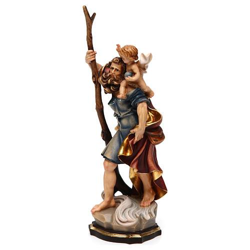 Statua San Cristoforo legno colorato 3