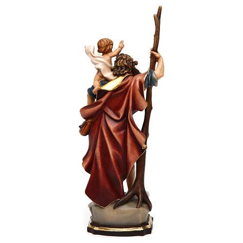 Statua San Cristoforo legno colorato 5