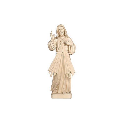 Imagem Cristo Misericordioso madeira natural 3