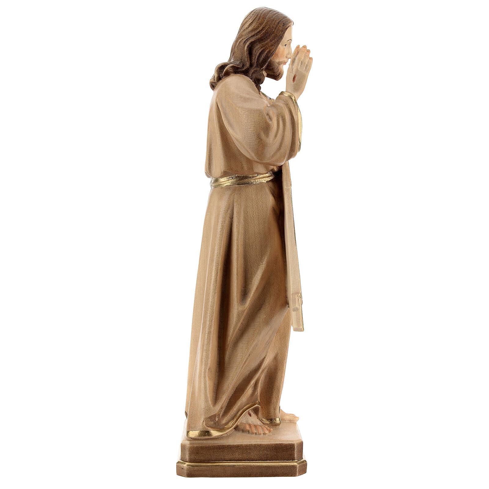Divine Merci statue in burnished wood 3 shades Val Gardena 4