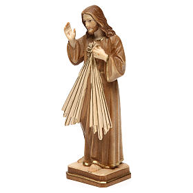 Divine Merci statue in burnished wood 3 shades Val Gardena s3