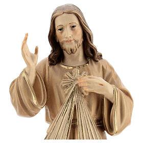 Divine Merci statue in burnished wood 3 shades Val Gardena s2