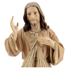 Estatua Jesús Misericordioso madera natural s2
