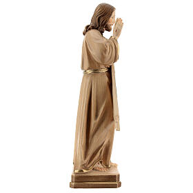 Estatua Jesús Misericordioso madera natural s6