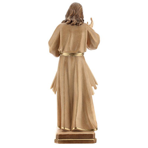 Estatua Jesús Misericordioso madera natural 7