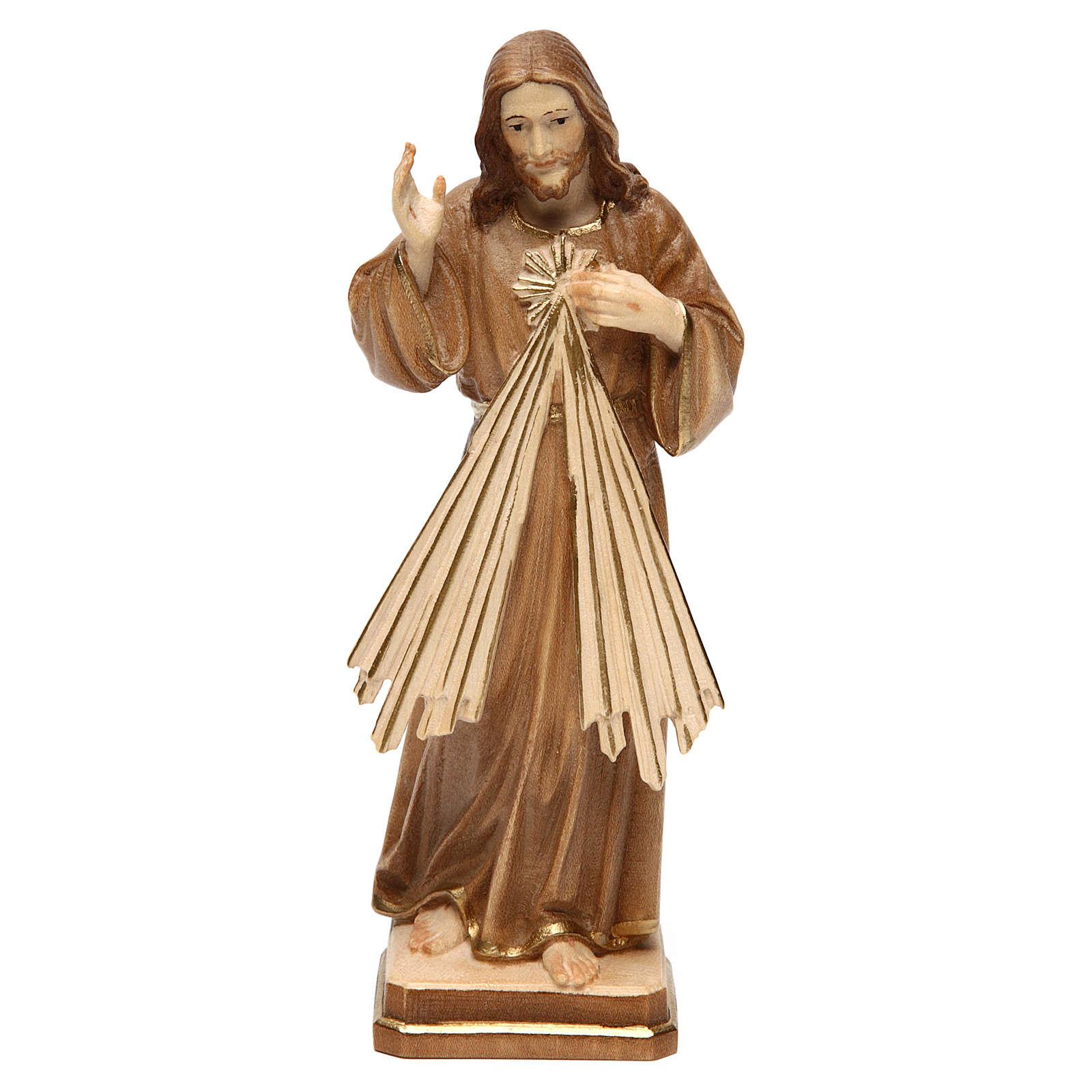 Gesù Misericordioso brunito 3 colori Val Gardena 4