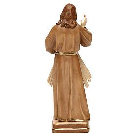 Divine Merci statue in burnished wood 3 shades Val Gardena s5