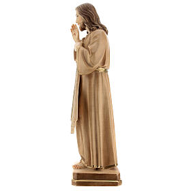 Divine Merci statue in burnished wood 3 shades Val Gardena s4