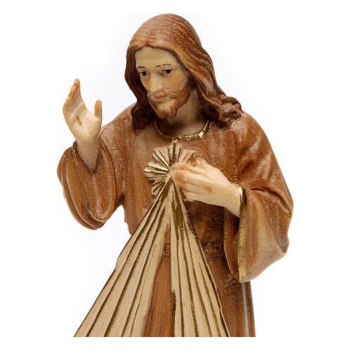 Divine Merci statue in burnished wood 3 shades Val Gardena 2