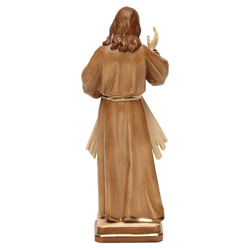 Divine Merci statue in burnished wood 3 shades Val Gardena 5