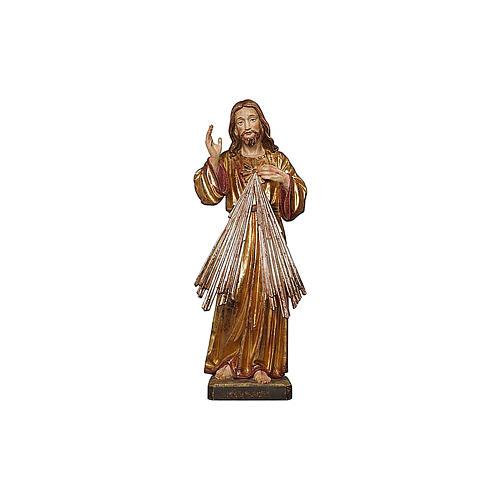 Christ Miséricordieux or massif vieilli et argent 2