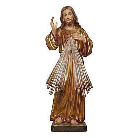 Gesù Misericordioso oro zecchino antico e argento s1