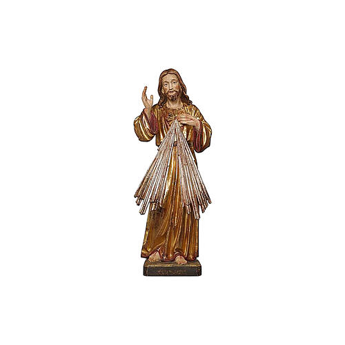 Gesù Misericordioso oro zecchino antico e argento 2