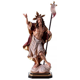 Hand painted wooden statues: Resurrection statue in painted wood Val Gardena