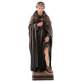 Statues en bois peint: Saint Pérégrin bois coloré Val Gardena