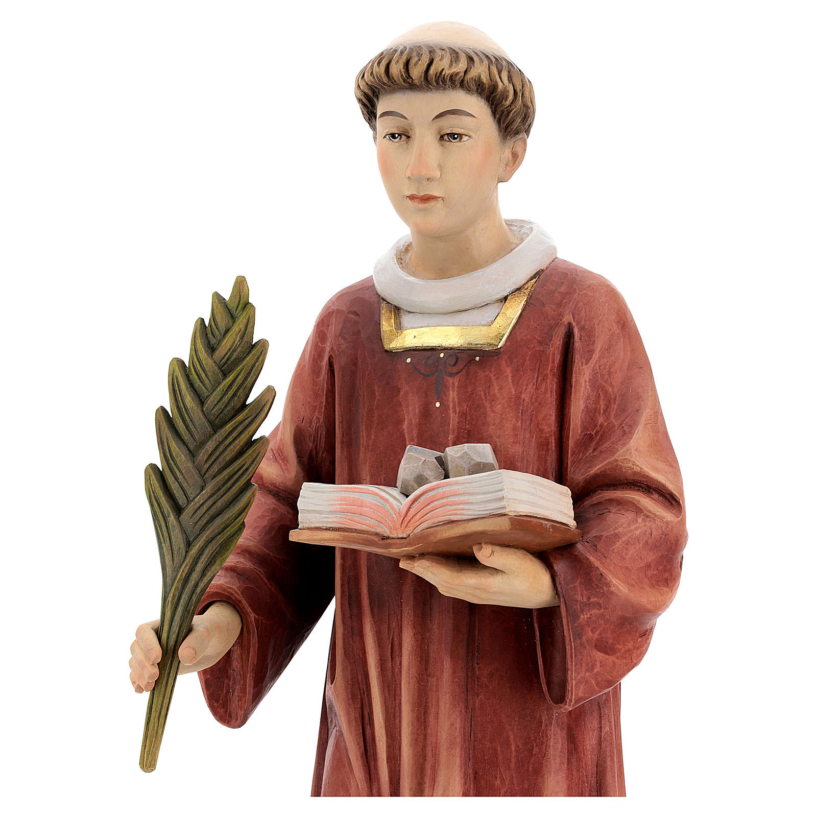 Saint Steven in coloured wood of Valgardena 4