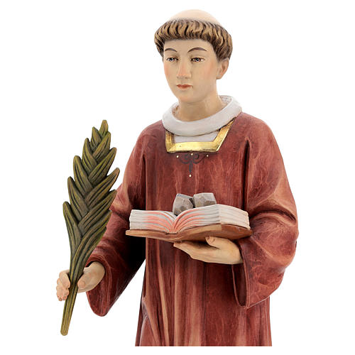 Saint Steven in coloured wood of Valgardena 2