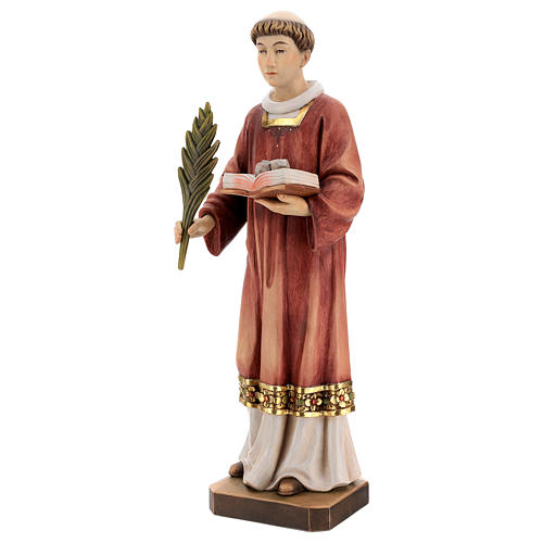 Saint Steven in coloured wood of Valgardena 3