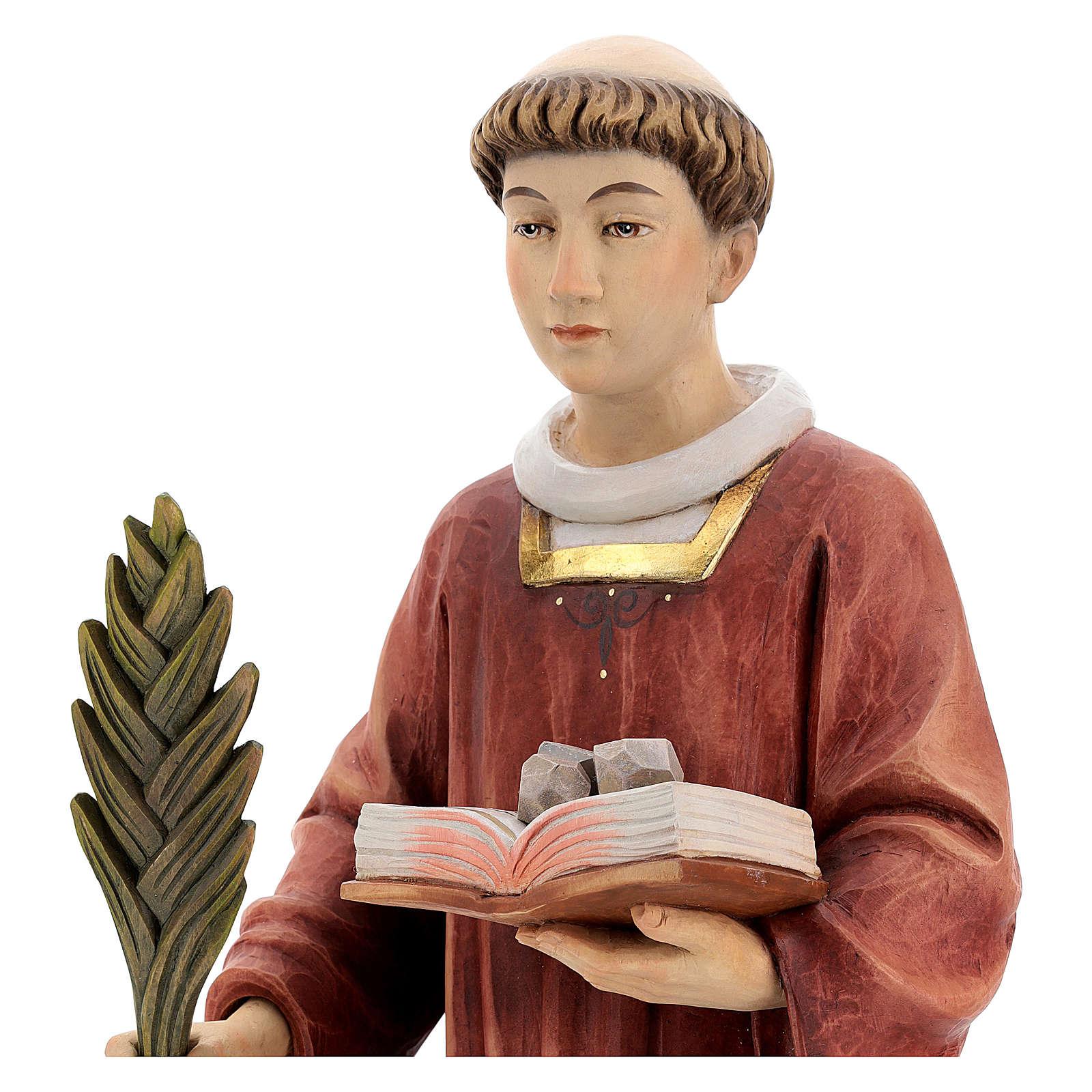Saint Steven in coloured wood of Valgardena 4