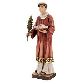 Saint Steven in coloured wood of Valgardena s3