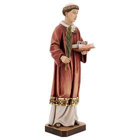 Saint Steven in coloured wood of Valgardena s4