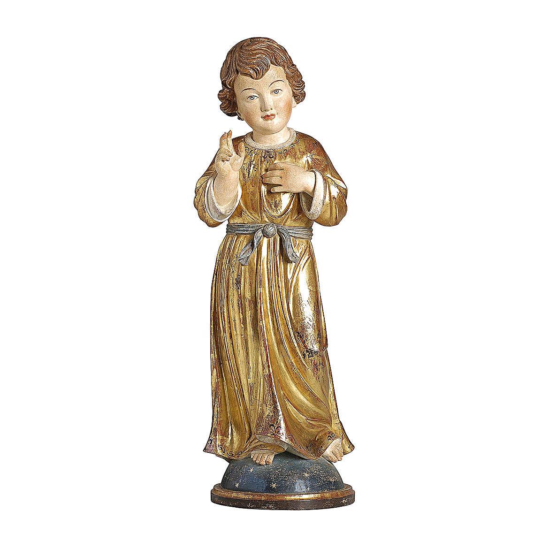 Gesù Adolescente legno manto oro zecchino Valgardena 4