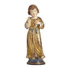 Gesù Adolescente legno manto oro zecchino Valgardena s1