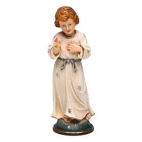Statues en bois peint: Jésus adolescent 12 cm bois Val Gardena dans une boîte