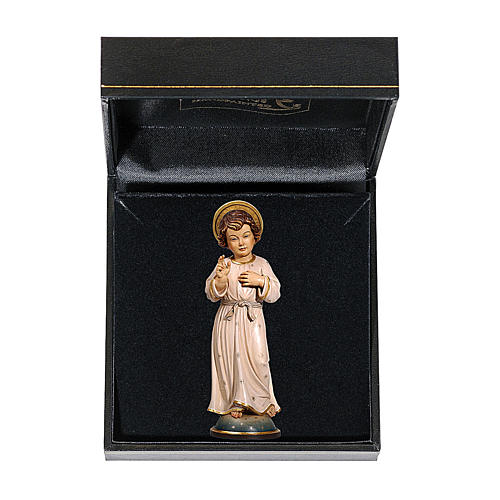 Gesù Adolescente 12 cm legno Valgardena in box 1