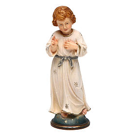 Hand painted wooden statues: Statue of Adolescent Jesus Christ in wood 12 cm in elegant box