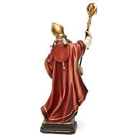 Święty Ambroży z ulem drewno kolorowe Val Gardena s5