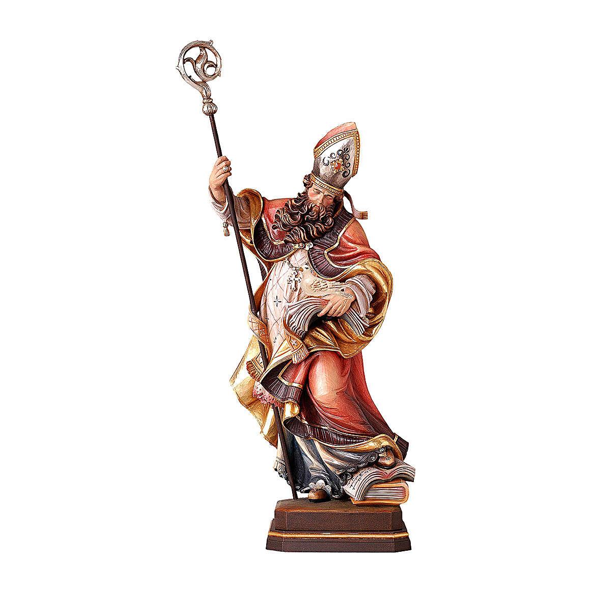 San Gregorio con colomba legno colorato Valgardena 4