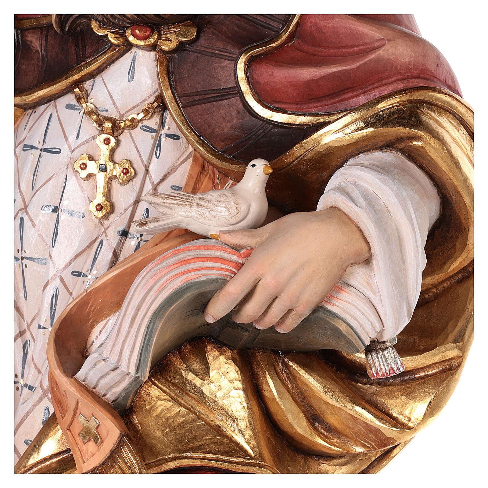 São Gregório com pomba madeira corada Val Gardena 4