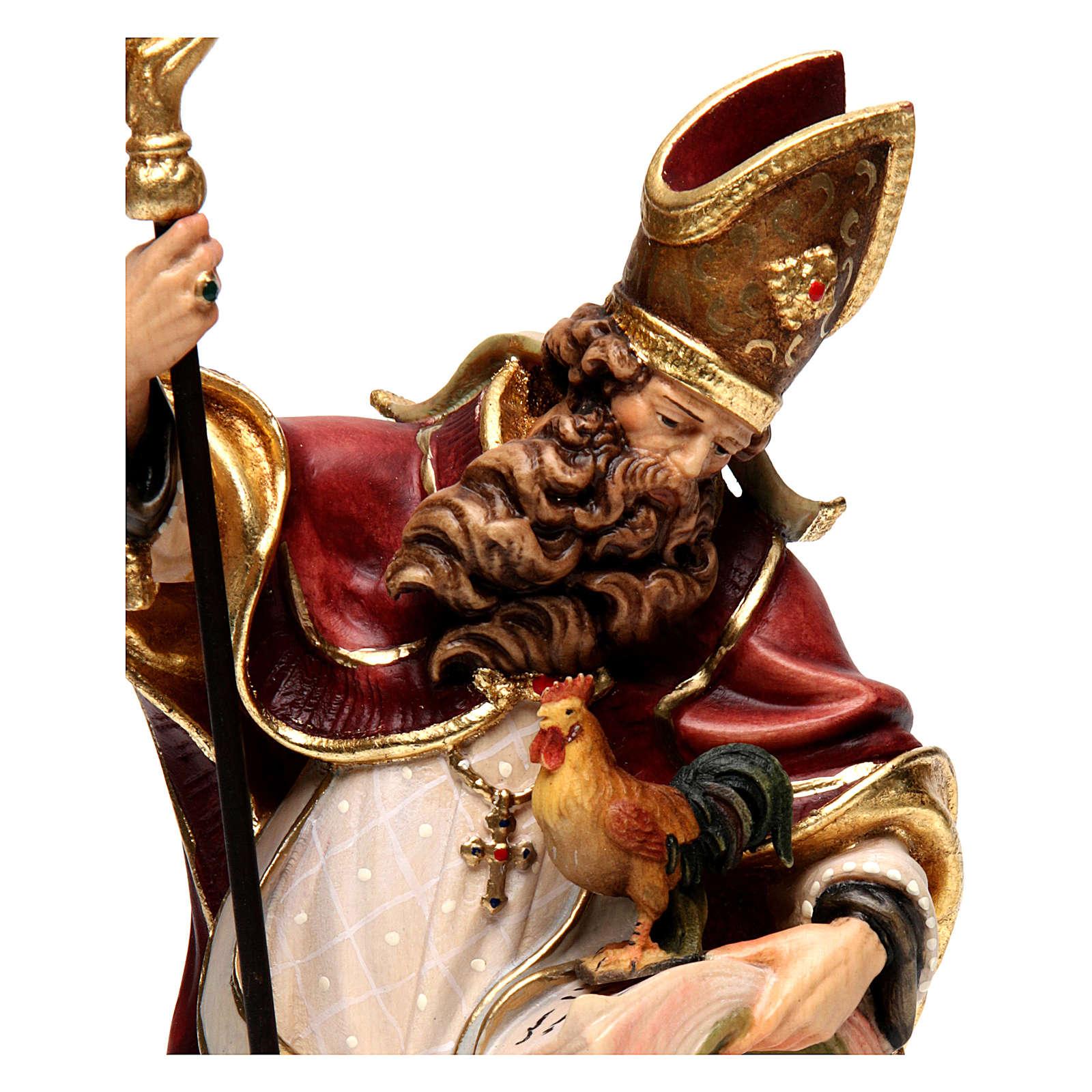 Saint Valentin avec coq bois coloré Val Gardena 4