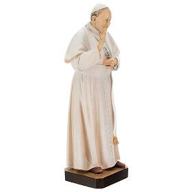 Statue of Pope Francis in painted maple wood of Valgardena s4