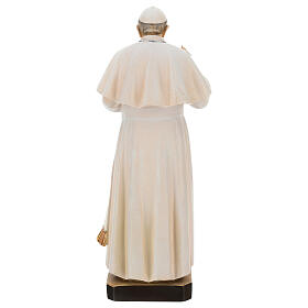 Statue of Pope Francis in painted maple wood of Valgardena s5