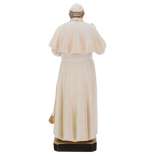 Statue of Pope Francis in painted maple wood of Valgardena 5