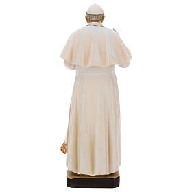 Pape François peint bois érable Val Gardena s5