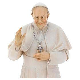 Papa Francesco dipinto legno acero Valgardena s2