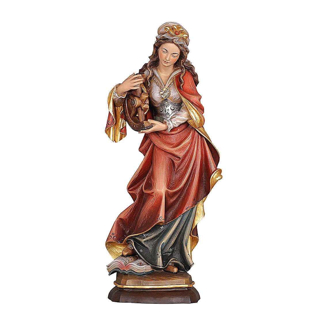 Santa Caterina dipinta legno acero Valgardena 4