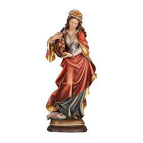 Santa Caterina dipinta legno acero Valgardena s1